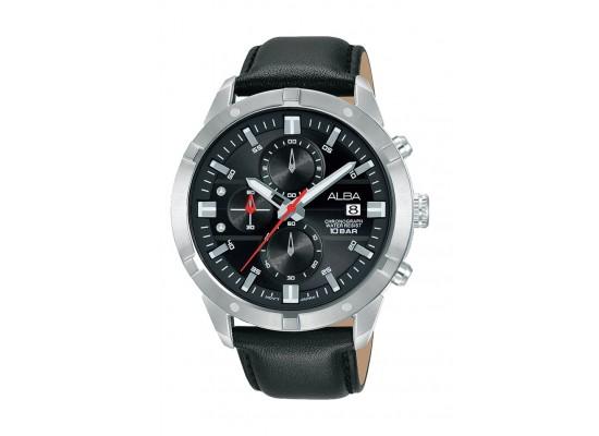 Alba 42mm Gent's Analog Leather Sports Watch - (AM3723X1)