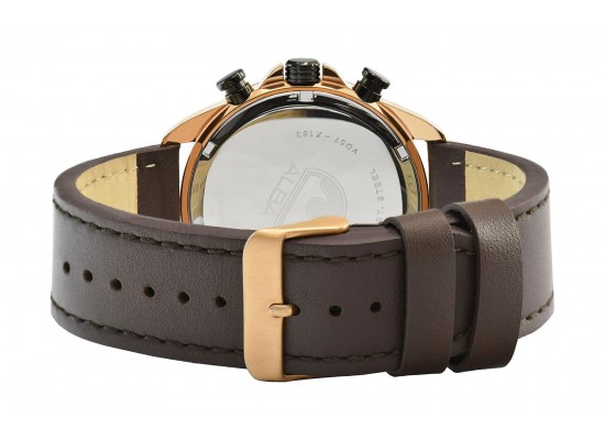 Alba 43mm Gent's Chronograph Leather Casual Watch - AM3788X1