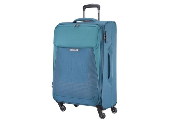 American Tourister Southside Spinner Soft 70cm Luggage Blue xcite buy in kuwait