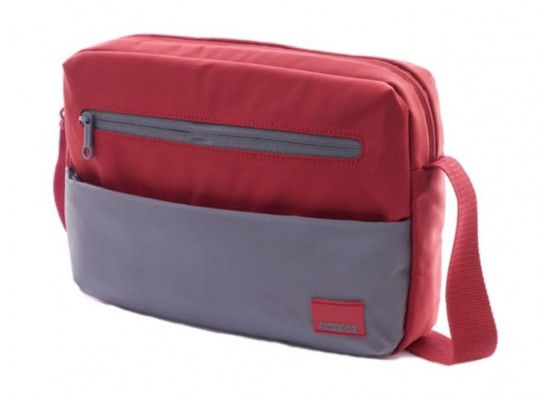 American Tourister Brixton Shoulder Bag (95SX80001) - Red/Grey -Side