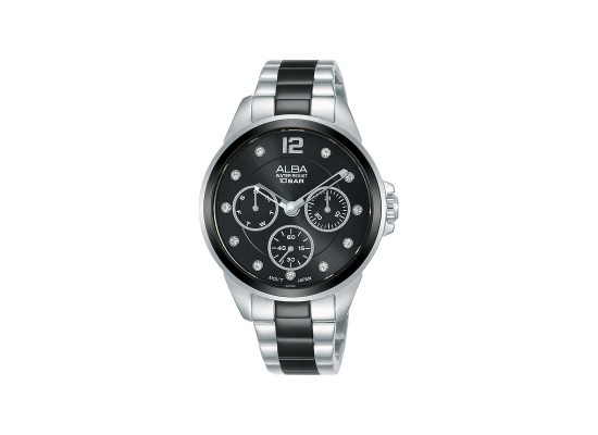 Alba 36mm Analog Ladies Metal Watch (AP6631X1) - Silver/Black