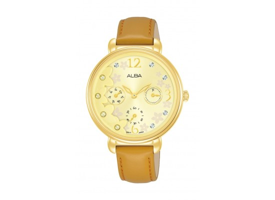 Alba 36mm Ladies Analog Leather Fashion Watch - AP6680X1