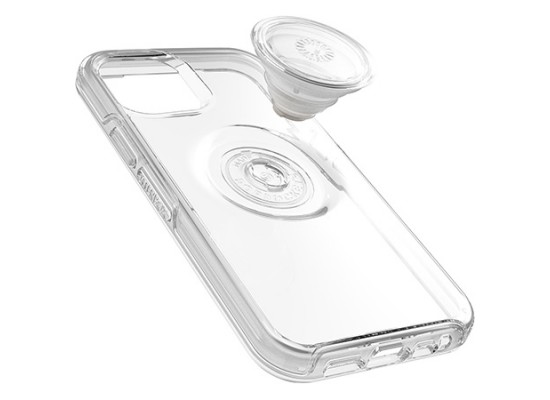 Otterbox iPhone 12 Pro Case with Pop Symmetry Grip - Clear