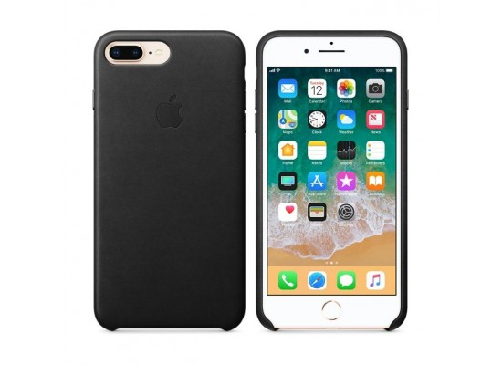 05f8b60feba1 Apple iPhone 8 Plus 7 Plus Leather Case - Black Leather