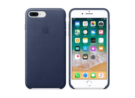 release date: 1c3ac 19d90 Apple iPhone 8 Plus and 7 Plus Leather Case - Midnight Blue Leather