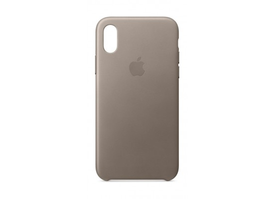 Apple Leather Case For iPhone 10 (MQT92ZM/A) – Taupe
