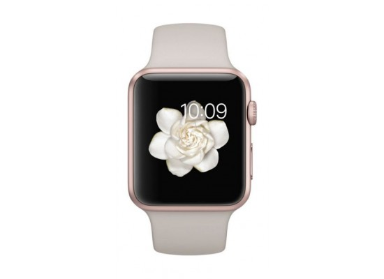 watch 2a307 94405 Apple Watch Sport - 38mm Rose-Gold Aluminum Case with Stone Sport Band
