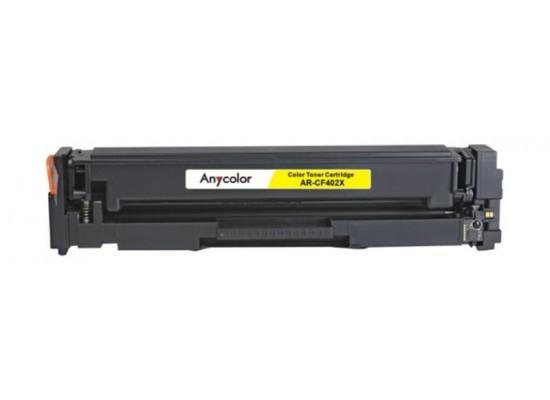 AnyColor 201X Yellow Toner 300 Page Yield Printer Cartridge - AR-CF402X