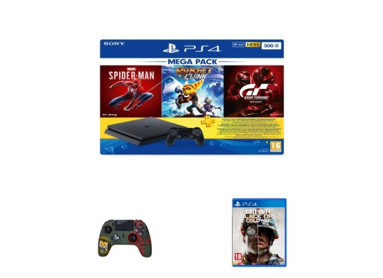 Sony PlayStation 4 500GB Mega Pack with Controller and 4 Games Bundle in Kuwait | Buy Online – Xcite