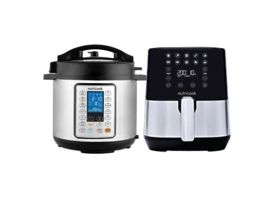 NutriCook Smart Pot Pressure Cooker Prime 6L 1000W - (NC-SPPR6) + Nutricook 1500W 3.6L Air Fryer (NC-AF204)