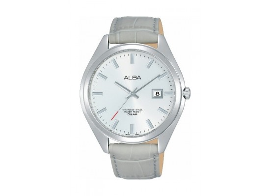 Alba 42.5mm Gents Leather Analog Watch (AS9F33X1) - Grey
