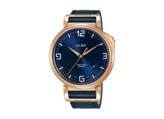 Alba Quartz 43mm Analog Gent's Leather Watch - AS9F92X1