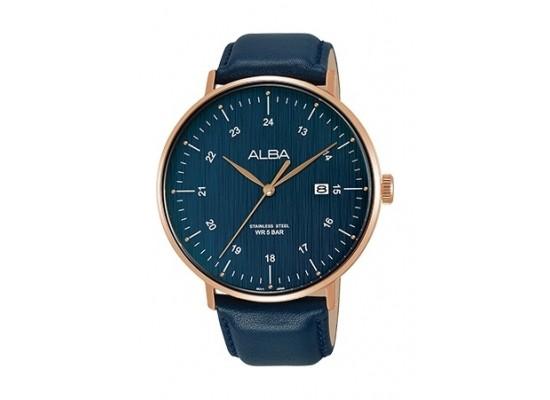 Alba 44mm Quartz Analog Gent's Leather Watch - AS9G02X1