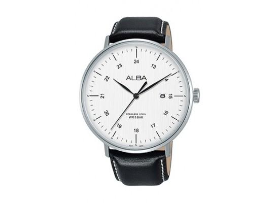 Alba 44mm Quartz Analog Gent's Leather Watch - AS9G05X1