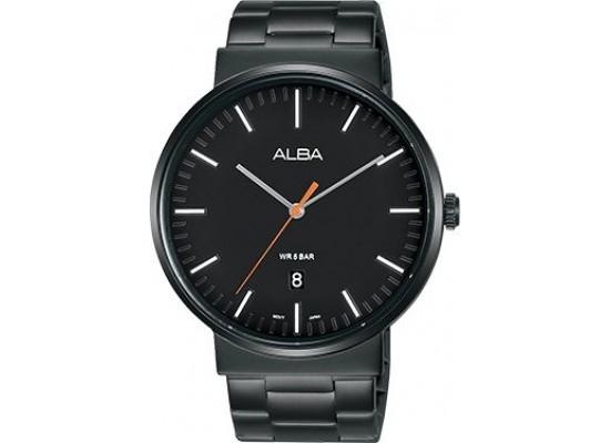 Alba 43mm Analog Gents Metal Watch (AS9G09X1) - Black