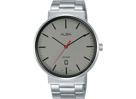 Alba 43mm Analog Gents Metal Watch (AS9G11X1) - Silver