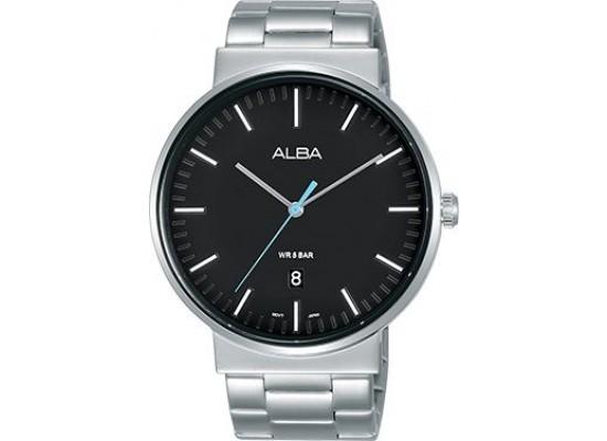 Alba 43mm Analog Gents Metal Watch (AS9G13X1) - Silver