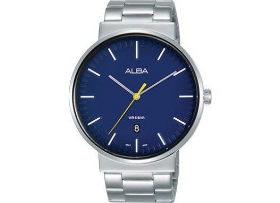 Alba 43mm Analog Gents Metal Watch (AS9G15X1) - Silver