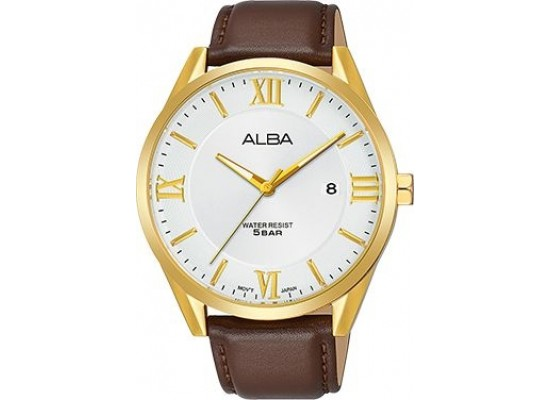 Alba 41mm Analog Gents Leather Watch (AS9G50X1) - Brown