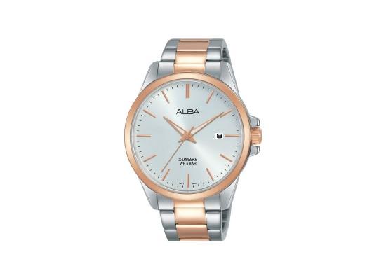Alba 41mm Analog Gents Metal Watch (AS9J04X1) - Silver/Rose-Gold