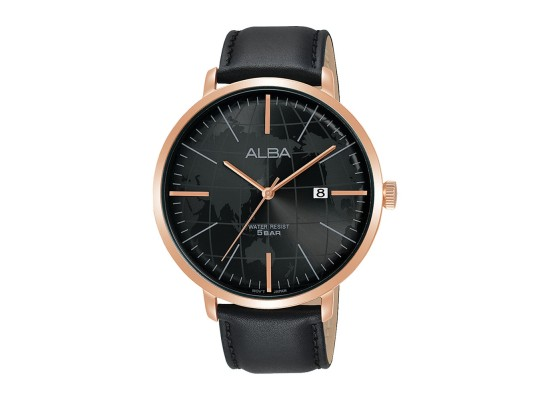 Alba 44mm Analog Gents Leather Casual Watch (AS9J86X1)