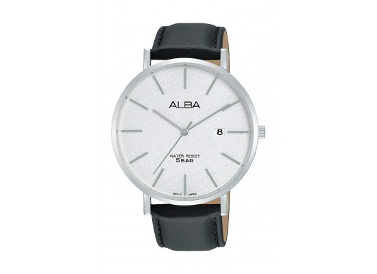 Alba 42mm Gent's Analog Leather Casual Watch - (AS9K19X1)