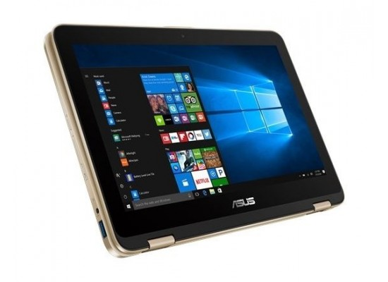 ASUS VivoBook Flip 12 Intel Pentium 4GB RAM 1TB HDD 11.6 inch Touchscreen Laptop - Gold 1