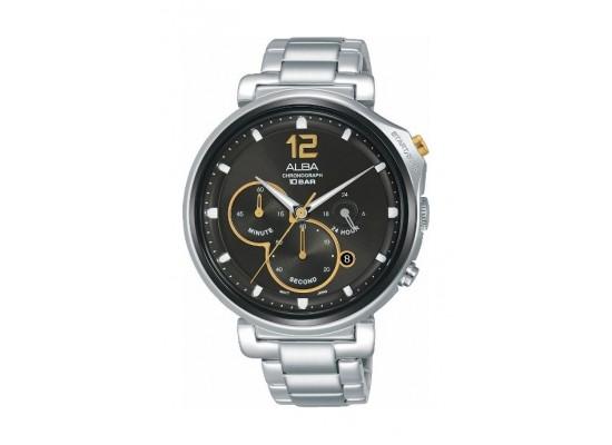 Alba Quartz 44mm Chronograph Gent's Metal Watch (AT3D65X1) - Stainless Steel