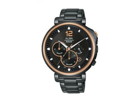 Alba Quartz 44mm Chronograph Gent's Metal Watch - AT3E12X1