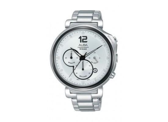 Alba Quartz 44mm Chronograph Gent's Metal Watch - AT3E15X1