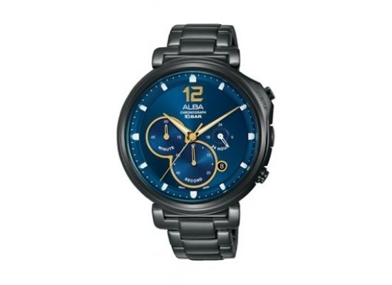 Alba Quartz 44mm Chronograph Gent's Metal Watch - AT3E21X1