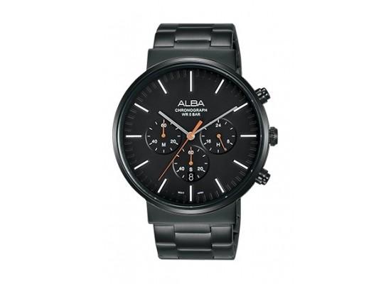 Alba 43mm Chronograph Gents Metal Watch (AT3E23X1) - Black