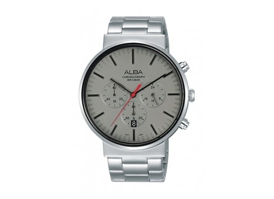 Alba 43mm Chronograph Gents Metal Watch (AT3E25X1) - Silver