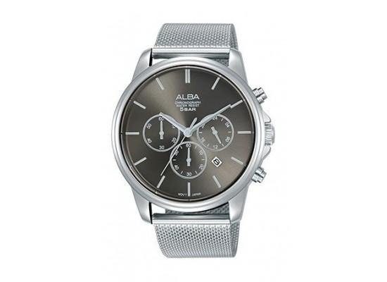 Alba Quartz 43mm Chronograph Gent's Metal Watch - AT3E43X1