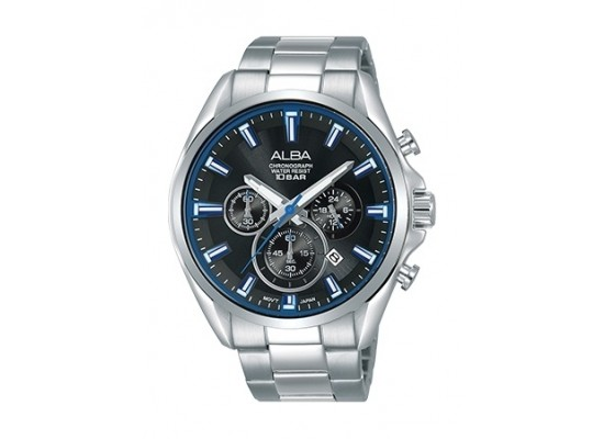 Alba 44mm Chronograph Gents Metal Watch (AT3E57X1) - Silver