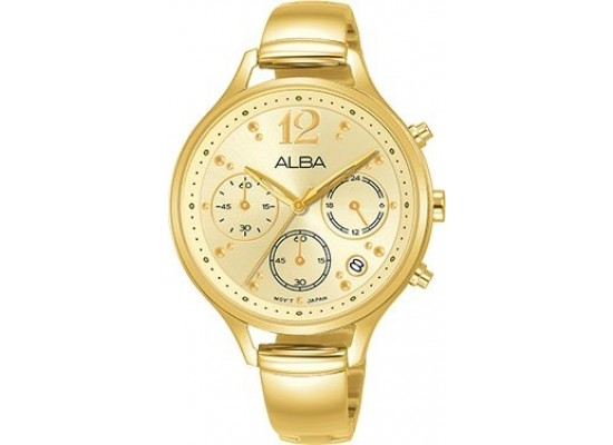 Alba 36mm Analog Ladies Metal Watch (AT3E98X1) - Gold