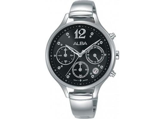 Alba 36mm Analog Ladies Metal Watch (AT3F03X1) - Silver