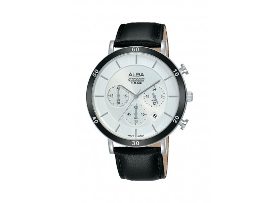 Alba 42mm Chronograph Gents Leather Casual Watch (AT3F71X1)