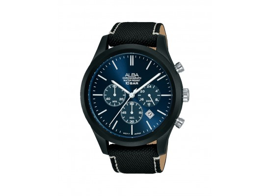 Alba 44mm chronograph gents fabric casual watch (at3g35x1) price ...