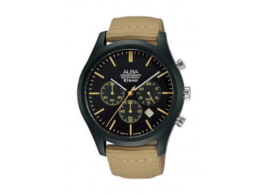 Alba 44mm Gent's Chronograph Nylon Sports Watch - (AT3G47X1)