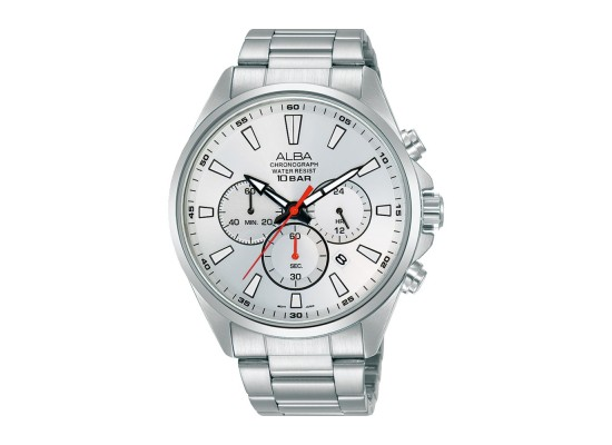Alba 43mm Chronograph Gents Metal Casual Watch (AT3G57X1)