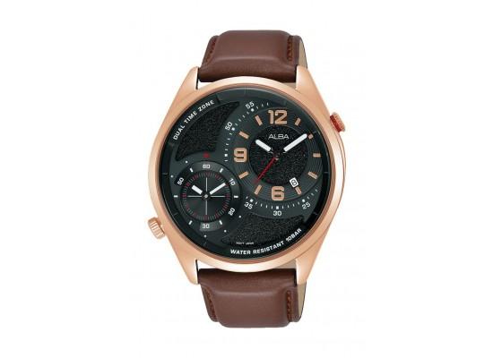 Alba 43mm Gents Analog Fashion Leather Watch - (AZ9024X1)