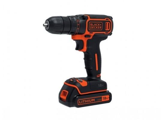 Black+Decker 18V Cordless Drill Driver (BDCDC18KB-B5)
