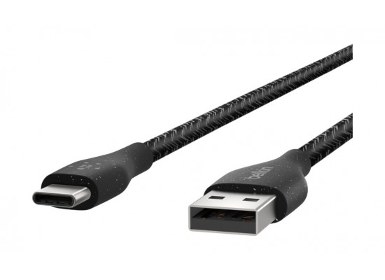 Belkin DuraTek Plus USB-C to USB-A Cable with Strap - 1M - Black