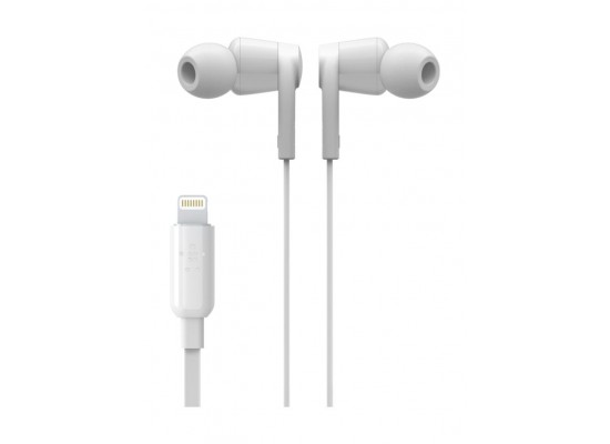 Belkin Rockstar Headphones with Lightning Connector - White 2