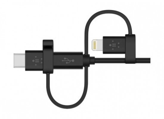 Belkin Universal Cable with Micro-USB, USB-C and Lightning Connectors - 1