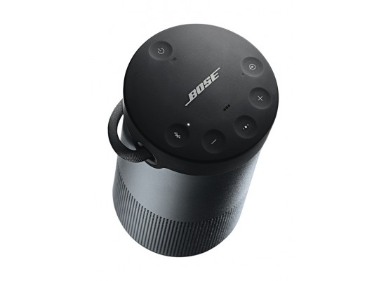 Bose Soundlink Revovle+ Bluetooth Wireless Portable Speaker Black - Top View Left