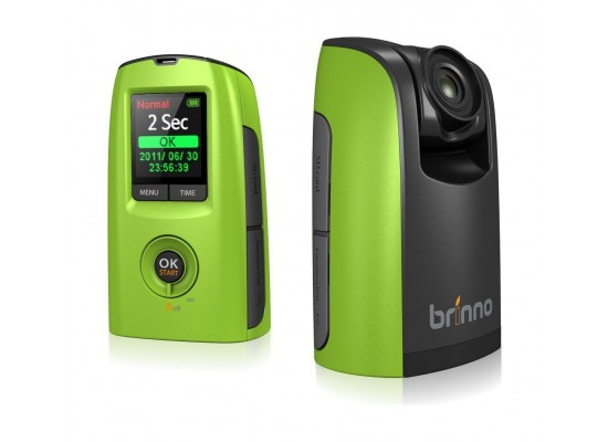 Brinno BCC100 1.44-inch Camcorder Green & Black - Left View