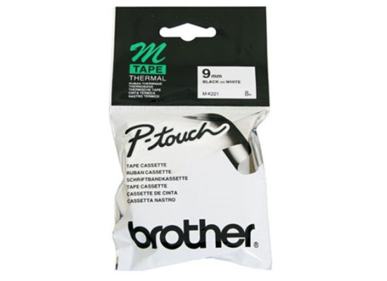 Brother Black on White Laminated Labelling Tape -9mm (M09-K221)