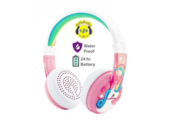 BuddyPhones WAVE Wireless Kids Headphones - Pink